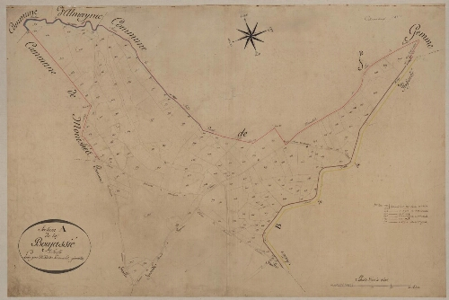 Plan cadastral parcellaire de 1811. Section A de la Boujassié – Feuille 3